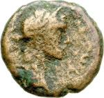 obverse:  Antonino Pio (138-161) (?) AE 16 mm. Gaza, Palestina.