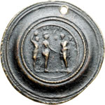 reverse:  Antonino Pio (138-161) Medaglione contorniato. Fusione antica.