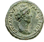 obverse:  Faustina madre, moglie di Antonino Pio (deceduta nel 141 d.C.) Asse.