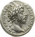 obverse:  Marco Aurelio (161-180) Denario.