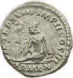 reverse:  Marco Aurelio (161-180) Denario.