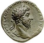 obverse:  Marco Aurelio (161-180) Sesterzio