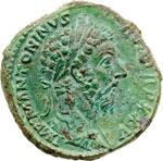 obverse:  Marco Aurelio (161-180) Sesterzio.