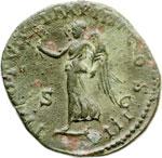 reverse:  Lucio Vero (161-169). Sesterzio