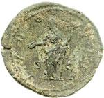 reverse:  Crispina, moglie di Commodo (deceduta nel 183 d.C.). Asse o dupondio