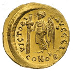 reverse:  Anastasio I (491-518) Solido, Costantinopoli.