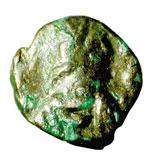 obverse:  Giustiniano I (527-565) Nummo, Cartagine.