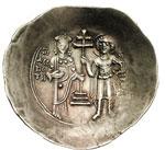 reverse:  Giovanni II Comneno (1118-1143) EL aspron trachy, Costantinopoli.