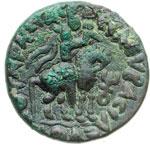 reverse:  Impero Kushan  Soter Megas (55-105) Tetradracma, Taxila.