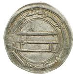 reverse:  Abbasidi  Al Mansur (136-158 a.H. / 754-775 d.C.) Dirhem, medinat es-Salam (Bagdad), 139 a.H.