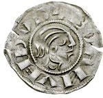 obverse:  Antiochia  Boemondo III ( Minorità 1149-1163) Denaro.