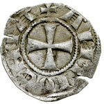 reverse:  Antiochia  Boemondo III ( Minorità 1149-1163) Denaro.