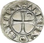 reverse:  Antiochia  Boemondo III (1163-1201) Denaro.