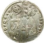 obverse:  Chiarenza  Roberto d Angiò (1346-1364) Ducato, imitazione del tipo di Andrea Dandolo.