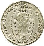 reverse:  Chiarenza  Roberto d Angiò (1346-1364) Ducato, imitazione del tipo di Andrea Dandolo.