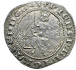 obverse:  Cipro  Pierre I (1359-1369) Grosso