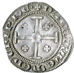 reverse:  Cipro  Pierre I (1359-1369) Grosso