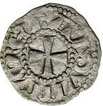 obverse:  Gerusalemme  Baldovino III (1143-1163) Denaro.