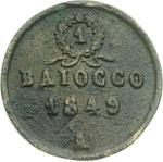 reverse:  Ancona  Seconda Repubblica Romana (1848-1849) Baiocco 1849.