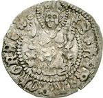 reverse:  Aquileia  Giovanni di Moravia (1387-1394) Denaro.