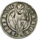 reverse:  Ascoli  Repubblica (XIII-XIV sec.) Mezzo grosso agontano.