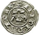 reverse:  Brindisi  Enrico IV (1194-1197) Denaro a nome di Enrico e Costanza.