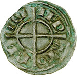 obverse:  Brindisi  Federico II (1197-1250) Mezzo denaro 1239