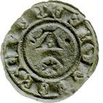 reverse:  Brindisi o Messina  Federico II (1197-1250) Denaro 1242.