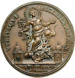 obverse:  Fermo e Ascoli   Medaglia 1755 per la Consacrazione a Vescovo di P. Paolo Leonardi.