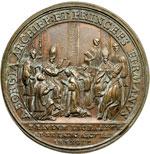 reverse:  Fermo e Ascoli   Medaglia 1755 per la Consacrazione a Vescovo di P. Paolo Leonardi.