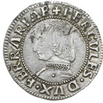obverse:  Ferrara  Ercole I d Este (1471-1505). Grossone