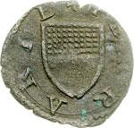 obverse:  Ferrara  Alfonso I d Este (1505-1534) Quattrino.