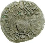 reverse:  Ferrara  Alfonso I d Este (1505-1534) Quattrino.