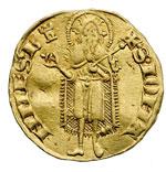 reverse:  Firenze  Repubblica (1189-1532) Fiorino stretto 1335. Segno: torretta (Lapaccio del Bene)