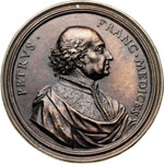 obverse:  Firenze  Pierfrancesco de' Medici, Il Vecchio (1430-1475) Medaglia.