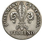 reverse:  Firenze  Leopoldo II (1824-1859) Fiorino 1847.