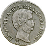 obverse:  Firenze  Leopoldo II (1824-1859) 10 quattrini 1858.