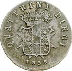 reverse:  Firenze  Leopoldo II (1824-1859) 10 quattrini 1858.