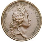 obverse:  Genova  Luigi XIV (1643-1715) Medaglia 1684 per la pace tra Francia e Genova, sconfitta dalla flotta francese.