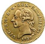 obverse:  Vittorio Amedeo III (1773-1796) Doppia 1786.