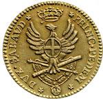 reverse:  Vittorio Amedeo III (1773-1796) Doppia 1786.