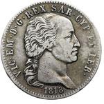 obverse:  Vittorio Emanuele I (1802-1821) 5 lire 1818.
