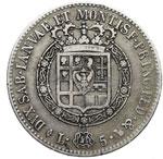 reverse:  Vittorio Emanuele I (1802-1821) 5 lire 1818.
