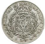 reverse:  Carlo Felice (1821-1831) 5 lire 1829 T