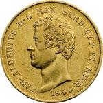 obverse:  Carlo Alberto (1831-1849). 20 lire 1840 T