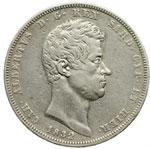 obverse:  Carlo Alberto (1831-1849) 5 lire 1832 T.