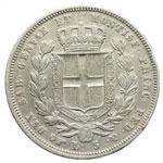 reverse:  Carlo Alberto (1831-1849) 5 lire 1832 T.