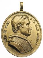 obverse:  Carlo Alberto (1831-1849) Medaglia ovale 1847 emessa dal regno di Sardegna per la lega doganale con lo stato pontificio.