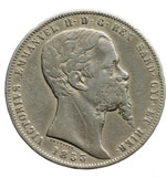 obverse:  Vittorio Emanuele II (1849-1861) 5 lire 1853 G.