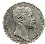 obverse:  Vittorio Emanuele II (1849-1861) 5 lire 1856 G.